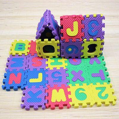 创意儿童益智力泡沫拼图地垫爬行垫小孩玩具批发地摊货源礼物热卖