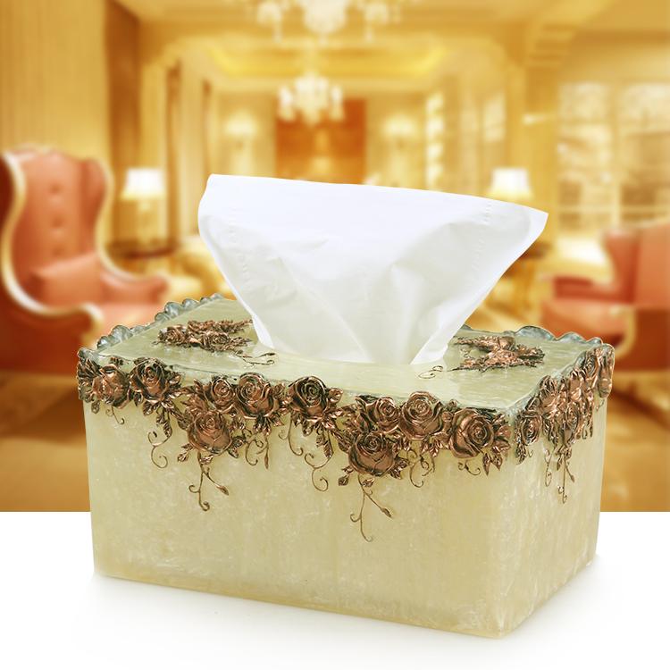 玫瑰纸巾盒