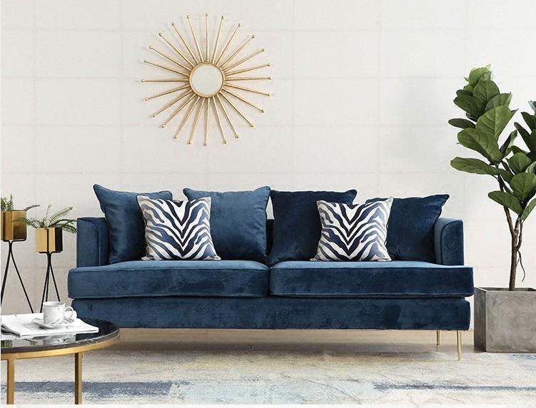 北欧蓝色沙发