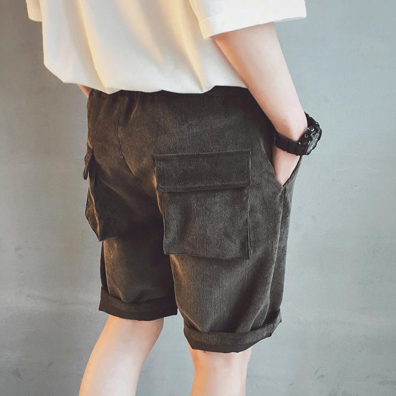 日系灯芯绒裤子
