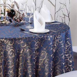 酒店桌布布艺餐厅台布饭店家用餐桌布大圆桌桌布圆形方形桌布欧式