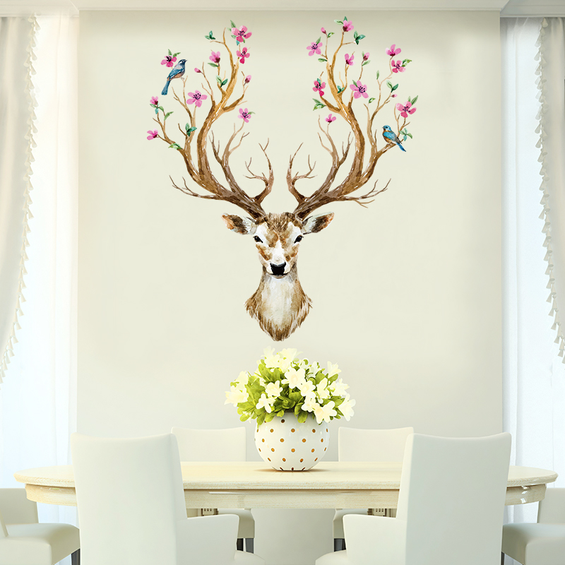 风纯 创意贴纸可移除卧室客厅自粘墙贴5元优惠券