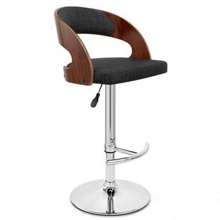 时尚酒吧椅子吧台椅吧凳旋转升降椅布艺靠背吧椅木质高脚凳