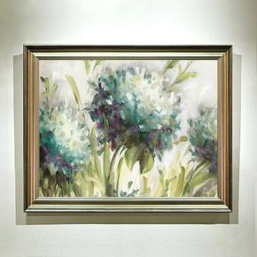 松柏现代简约客厅玄关装饰画手绘立体卧室餐厅植物花卉抽象挂画