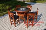 實木大理石火鍋桌小火鍋火鍋桌子電磁爐一體液化氣煤氣串串桌椅