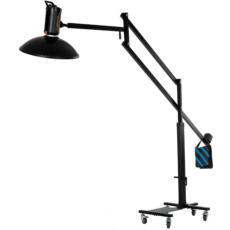 摄影棚摄影灯架吊臂斜臂架平衡架方管顶灯架人像拍摄吊臂移动重型