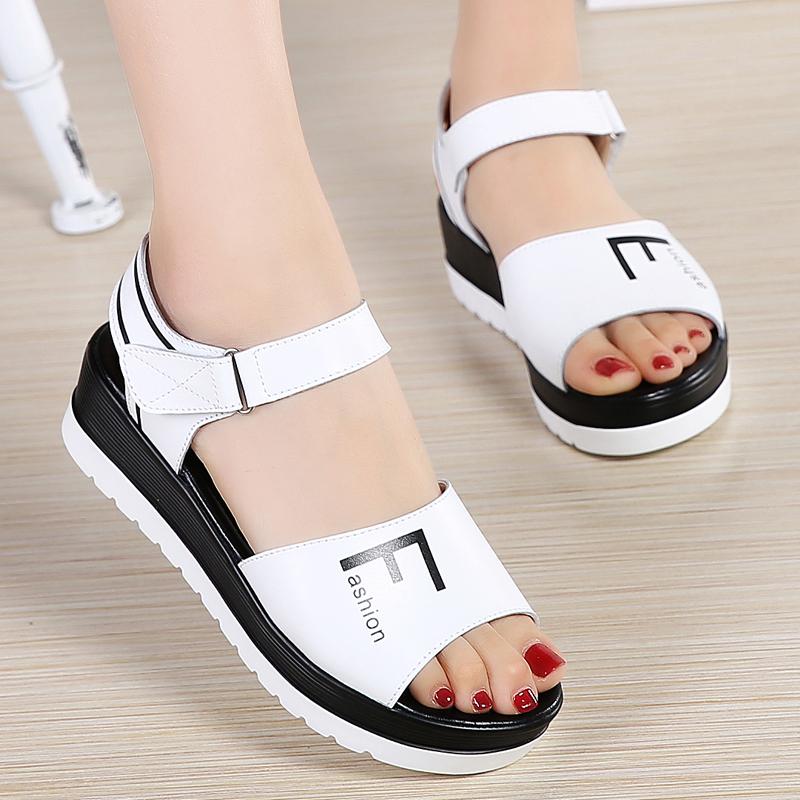 坡跟鞋夏天