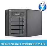 Promise Qiao Pegasus2 R4 8TB thunderbolt2 generation 4 disk lightning disk array