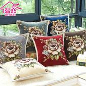 温恋 欧式抱枕靠垫花朵图案沙发靠垫窗帘靠垫办公室靠垫午睡抱枕