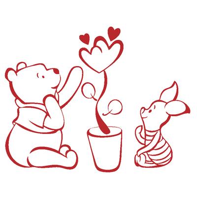 小熊小猪维尼熊 动物卡通墙贴 动物贴画 儿童房贴纸贴饰