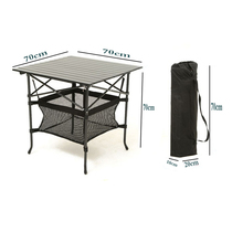 Tables et chaises pliantes en plein air table de rangement table en alliage dAluminium portable Table de camping repas table de promotion du camping sur la plage table de formation