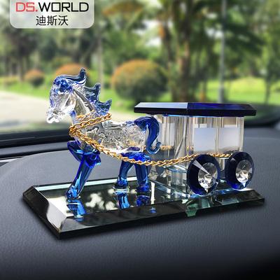 汽车香水创意车载马车水晶香水座式车用香水摆件车内饰用品除异味