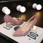 粉色漆皮單鞋