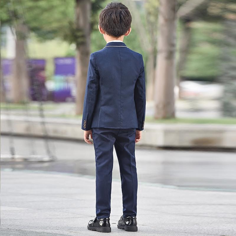 儿童西装套装花童礼服男童小西服外套宝宝春秋三件套主持人演出服