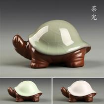 创意乌龟可养紫砂茶具茶艺摆件紫砂小和尚澜扬紫砂茶宠摆件精品