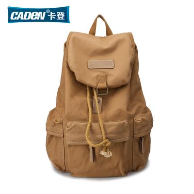 卡登帆布单反相机包休闲多功能专业数码户外双肩包摄影包单反背包最新报价