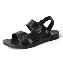 沙滩鞋 两用拖鞋 夏季凉鞋 日常休闲牛皮透气潮鞋 2017新款 意尔控行