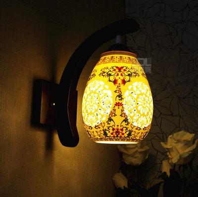 仿古陶瓷中式壁灯LED复古典过道楼梯阳台客厅单头实木卧室床头灯是什么档次