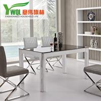 餐桌椅组合黑白色烤漆