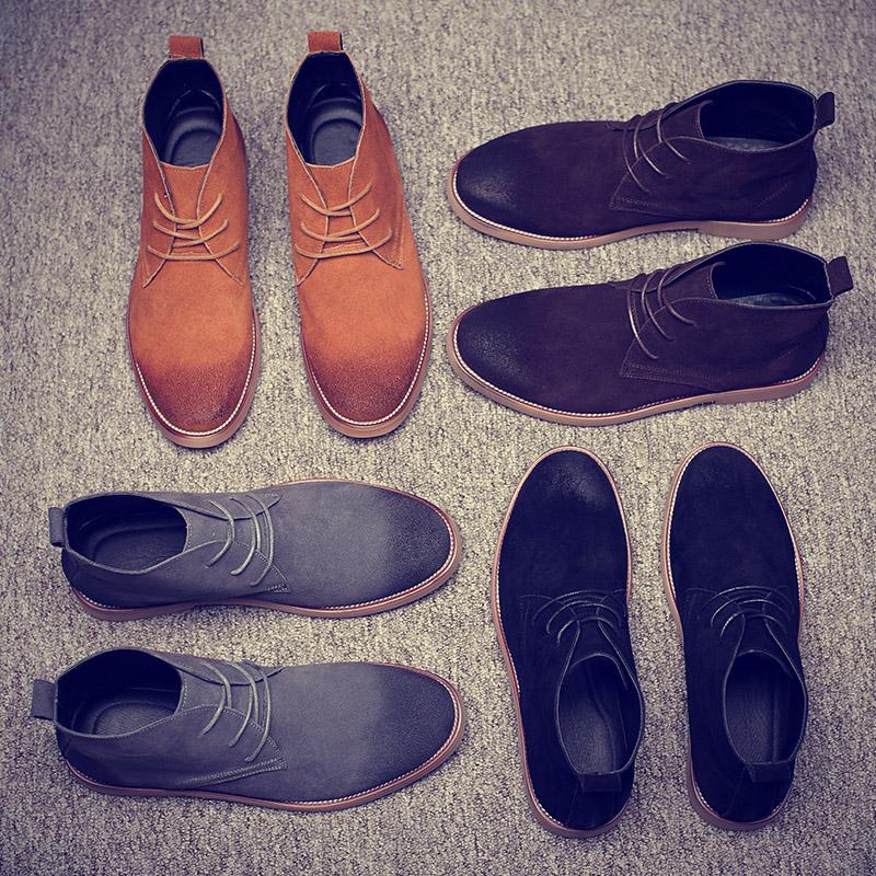 男士低帮皮棉鞋