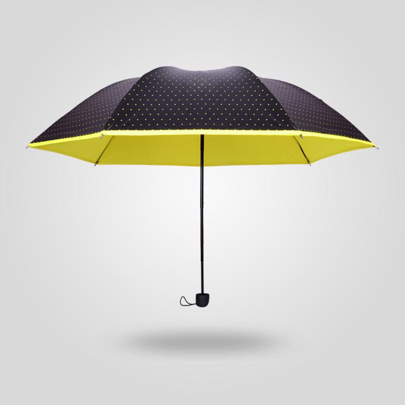 防紫外线伞晴雨伞小黑胶折叠铅笔太阳伞公主超强防晒男女两用包邮1元优惠券