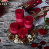 Set Natural Rose Aromatherapy Candle Romantic Essential Oil Fragrance Candle Red Set Wedding Candle Gift Incense