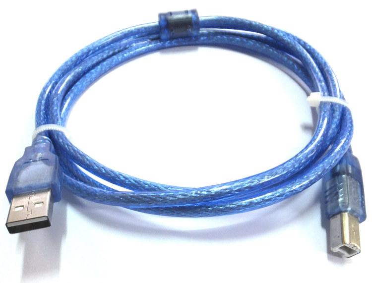 域能USB打印机方口连接线 打印机数据线加长转usb转方口 5/10米