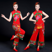 Drum-beating costume performance dress New Yangge costume Classical dance performance dress Chinese style ethnic dance costume female adults