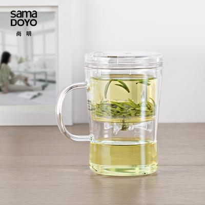 春之茗 尚明飘逸杯 玻璃茶壶泡茶壶茶具 耐热泡茶器茶杯S007包邮