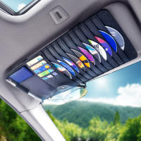 Car CD clip fashion universal car cd bag sun visor car CD disc box set glasses clip car storage