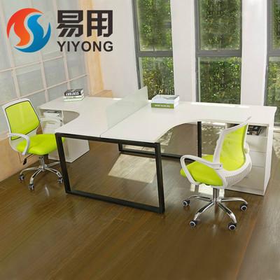 广州办公家具职员桌简约现代办公桌屏风员工4人位电脑桌办公桌椅哪款好