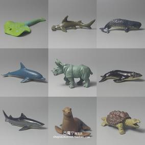 散货 座头鲸 抹香鲸 犀牛 海洋生物模型 动物手办公仔扭蛋摆件