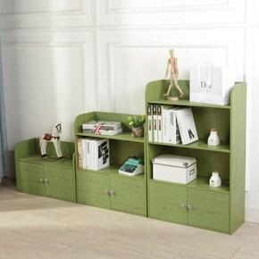 自由组合储物柜多功能带门小柜子收纳柜矮柜客厅书柜简易置物架
