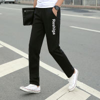 Autumn and winter plus velvet Korean version of the trend of sports pants men's trousers students loose straight sweater pants large size men's casual pants