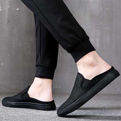夏季男鞋拖鞋男士凉鞋包头凉拖鞋男防滑室外韩版懒人个性潮半拖鞋