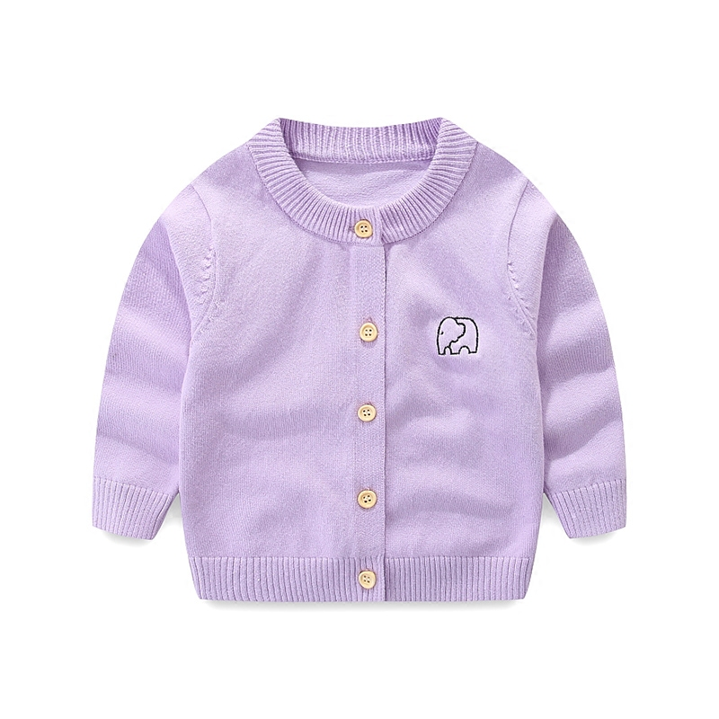 婴儿毛衣开衫男童新生儿毛线衣儿童女宝宝纯棉针织衫加绒加厚外套