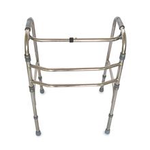 不锈钢折叠助行器 残疾人老年助行器助步器 拐杖 四脚康复助行器