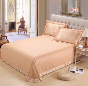 全棉床单 单件 夏凉贡缎提花纯棉 欧式圆角1.5米1.8米2.0米特价