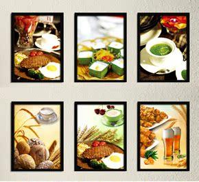 饭店装饰画食物创意休闲餐厅田园现代简约快餐店挂画饭厅背景墙