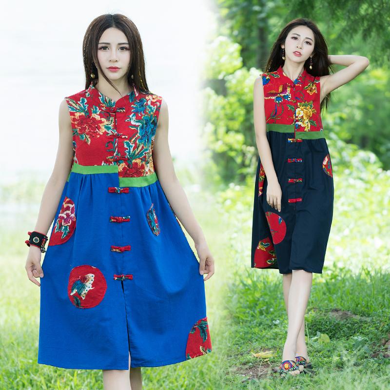 中式棉背心