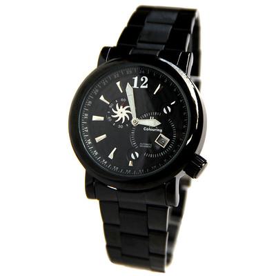 男士黑色手表鋼表帶