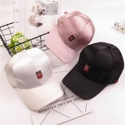 小熊鸭舌帽帽子