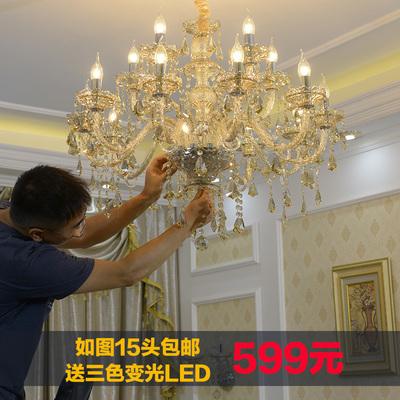 蜡烛水晶吊灯客厅水晶灯专卖店