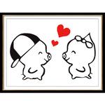 猪猪十字绣