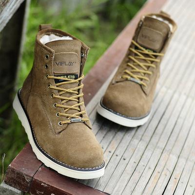 冬季保暖大码男靴真皮加绒马丁靴雪地靴男士棉鞋短靴工装军靴棉靴