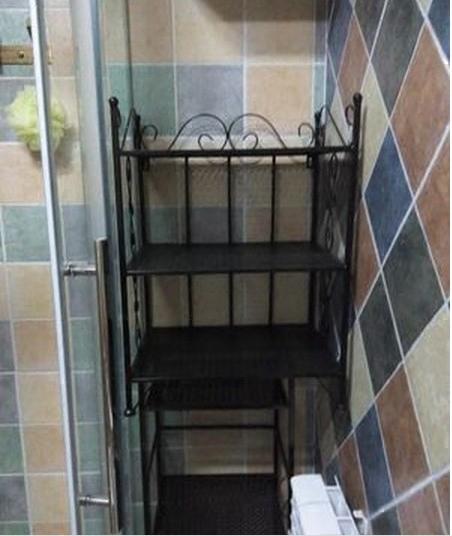 铁艺脸盆架 浴室置物架 落地式层架 卫生间收纳架 面盆架 水桶架