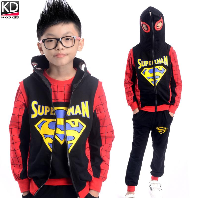 超人服装男童