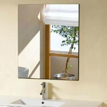 浴室半身镜免打孔粘贴墙壁卫浴镜高清大小化妆镜美发店简约壁挂镜