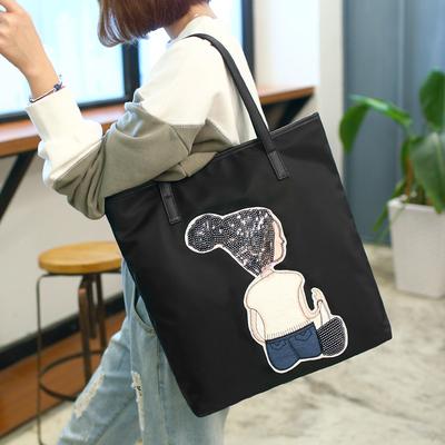 女包2018新款牛津布休闲大包包托特包简约学生手提包单肩包购物袋