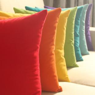 床头靠背纯色大抱枕套沙发靠垫套腰枕含芯靠枕护腰枕靠背套